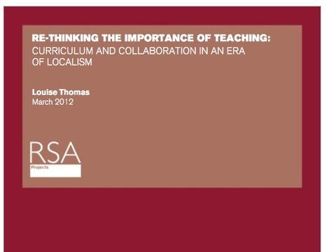 RSA - Area Based Curriculum   cortazar   Scoop.it