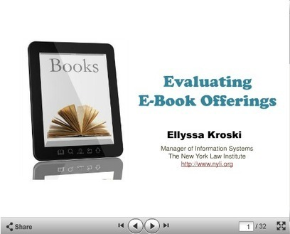 Evaluating e-Books in Law Libraries | Library Collaboration | Scoop.it