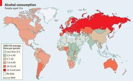 Mapa mostra consumo de bebidas alcoólicas no mundo | Geoprocessing | Scoop.it