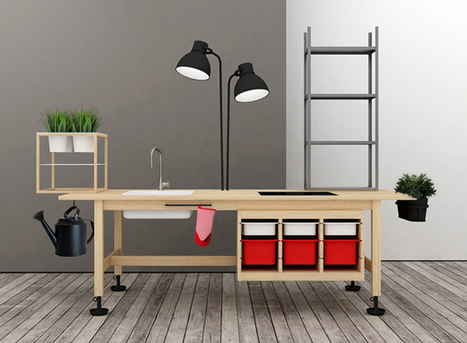 IKEA Products Become Compact Kitchen With Planters | Urban Gardens | Connected Teens | Scoop.it