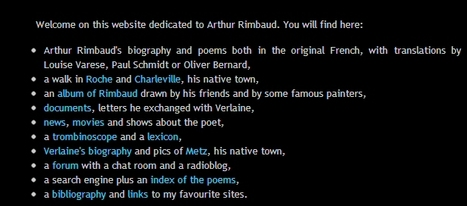 Arthur Rimbaud's Life, Poetry and News | poetry-data | Scoop.it