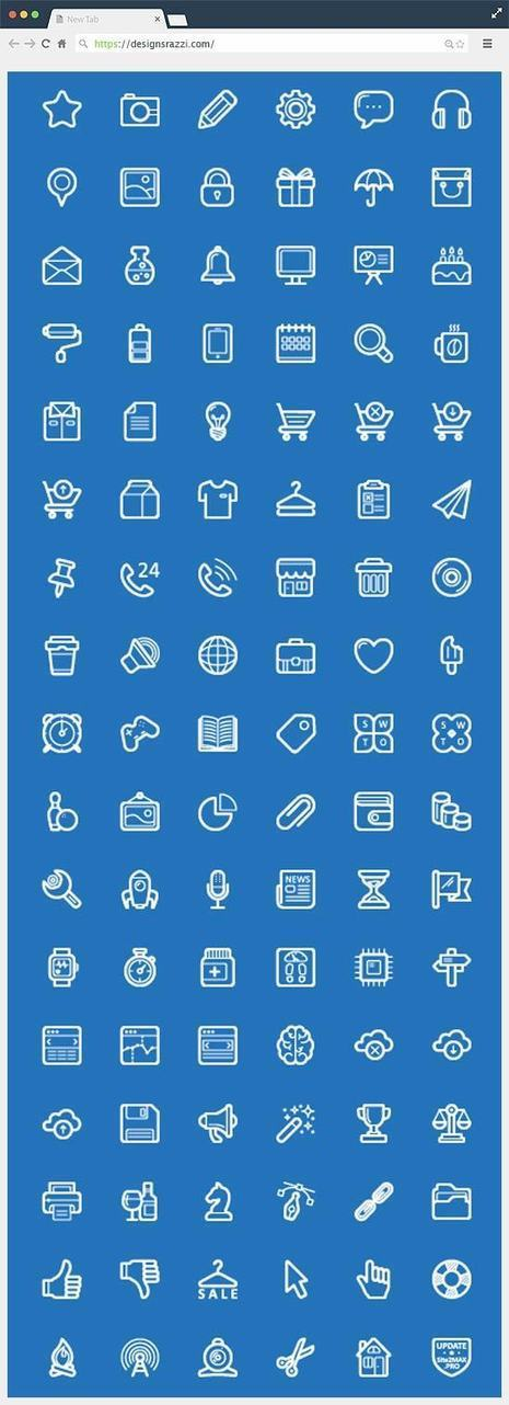 100+ Free Line Icons | Designrazzi | Sites et Applis pratiques | Scoop.it