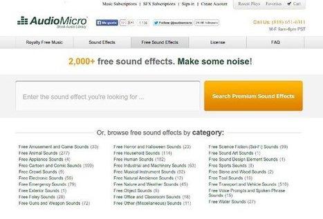 AudioMicro: más de 2 mil efectos de sonido gratis | WEB 3.0 | Scoop.it