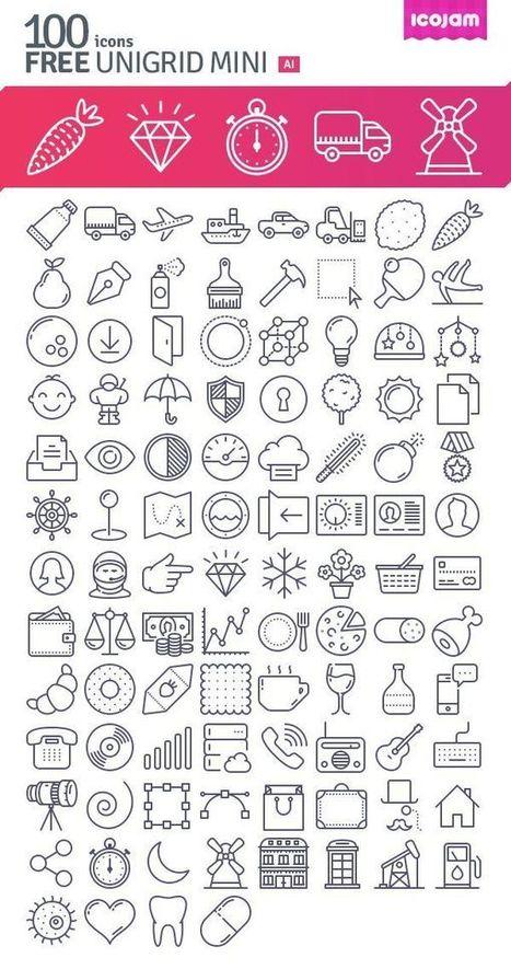 16 packs d'icônes gratuites pour le mois de novembre   Banques Gratuites et libres de droits   Scoop.it