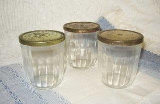 Vtg 3 Hazel Atlas Jelly Jars ~ Glass Jar with Tin Lid ~ Antique Storage ~ nice Vintage Touch | Vintage Collectibles | Scoop.it