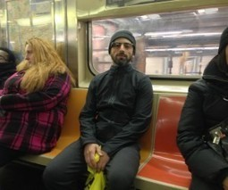 Spotted: Sergey Brin wearing Google Glass specs as he blends in on NYC subway | Augmented Reality geeks | Scoop.it