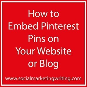How to Embed Pinterest Pins on Your Website or Blog - Business 2 Community | Pinterest | Scoop.it