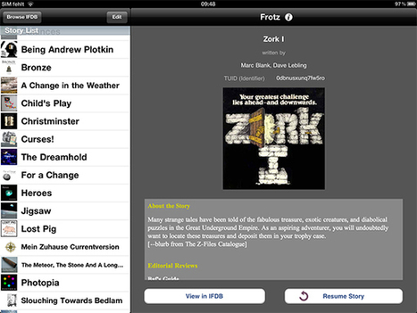 Interactive Fiction In The iOS Age: A Text-Based Love Story   Interactive Fiction and Digital Game-based Learning   Scoop.it