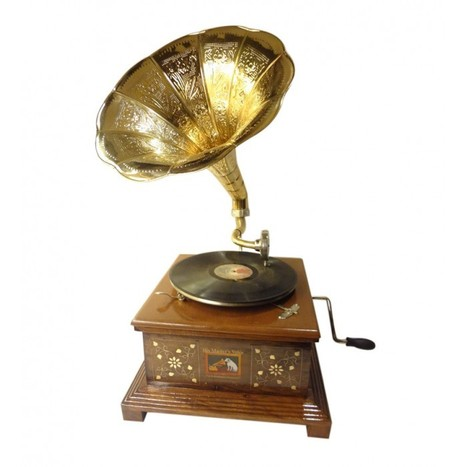 Gramophone Player With Brass Work | Buy musical instrument online | Onlineshoppee | Scoop.it