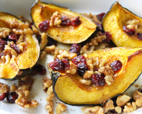 Roasted Acorn Squash with Walnuts and Cranberries | ¿Vege-Que? Healthy Recipes and Resources | Scoop.it