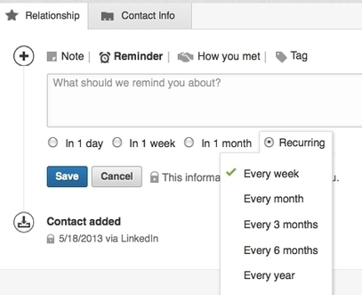 How to Use the LinkedIn Contacts Feature | Social Media | Scoop.it