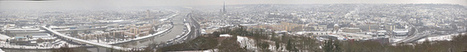 Rouen sous la neige | panorama Par MecTouZen-art @ Flickr | Rouen | Scoop.it