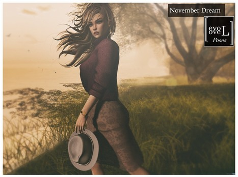 November Dream Single Pose Group Gift by [evoLove]   Secondlife freebies   Scoop.it