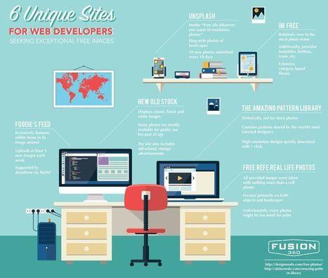 6 páginas donde encontrar imágenes gratuitas excepcionales (infografía) | E-Learning, M-Learning | Scoop.it