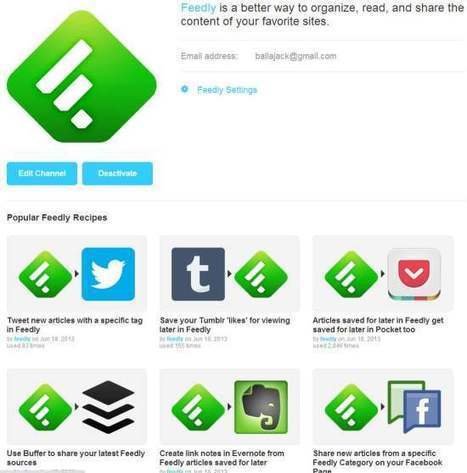 Intégration de Feedly dans IFTTT | Moodle and Web 2.0 | Scoop.it