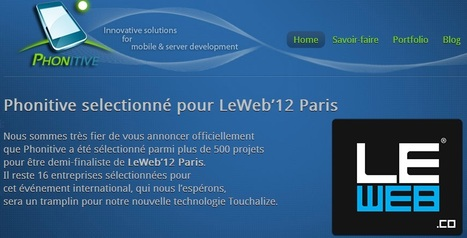Phonitive une Start up Toulousaine sélectionnée par Le Web 2012 | Toulouse networks | Scoop.it