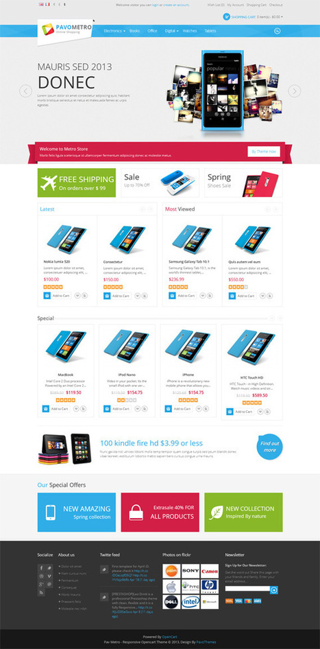 Pav Metro Store, Opencart Windows 8 Style Metro Theme | Premium Download | Premium Opencart Themes | Scoop.it