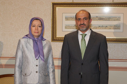 """Meeting of Mrs. Maryam Rajavi and Mr. Ahmad Jarba in Paris May 24, 2014 