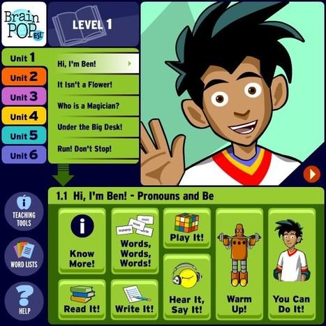 BrainPOP ESL   Pronouns and Be   Hi, I'm Ben!   Des jeux pour apprendre en s'amusant   Scoop.it