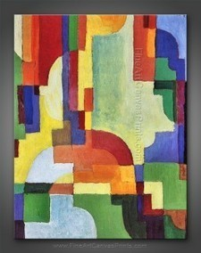 August Macke: Colored Forms I | Fine Art Canvas Prints | Paintings & Fine Art Prints | Scoop.it