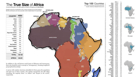 Africa's true size will blow you away | Masego's GIS Corner | Scoop.it