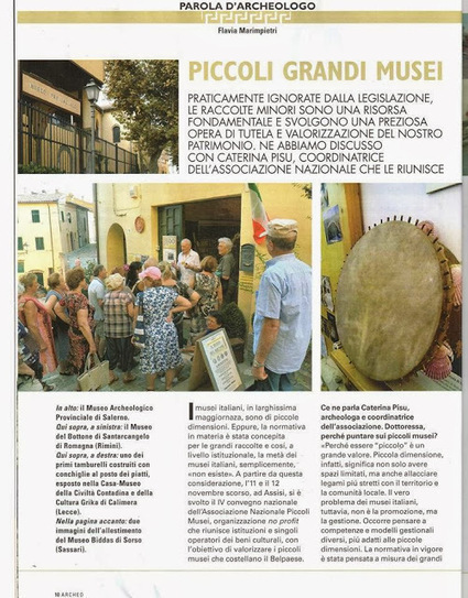 Museums Newspaper: Piccoli grandi musei: un'intervista su Archeo | Piccoli Musei | Scoop.it