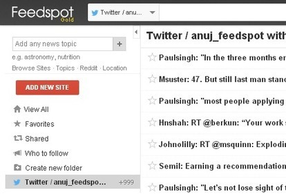 FeedSpot: Read, Archive & Search Your Personal Twitter Timeline | Time to Learn | Scoop.it