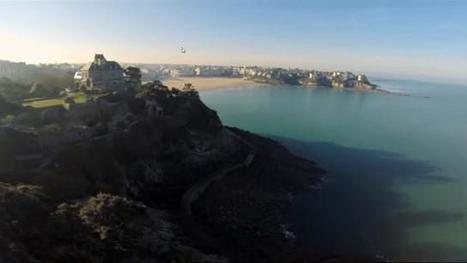 Vidéo. Dinard, ses villas, ses plages, filmées par un drone - Ouest-France | Drôles de drones | Scoop.it