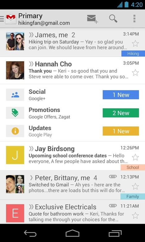 Updated Gmail App Now Available | Google's Tools | Scoop.it