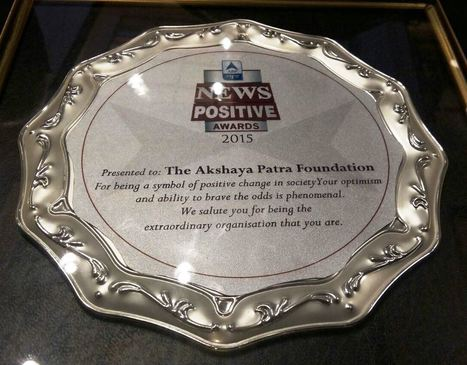 Akshaya Patra Wins ABP News Positive Award 2015 | Akshaya Patra Foundation kitchens- Beyond just cooking! | Scoop.it