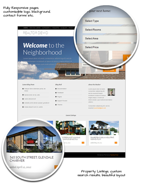 Realty, Free WordPress Responsive Real-Estate Theme | WP Download | Real Estate | Scoop.it