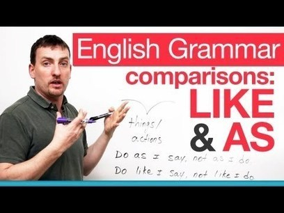 English Grammar – comparing with LIKE & AS · engVid | Let's learn English | Scoop.it