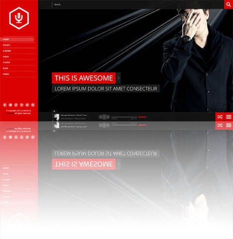 La-Band, WordPress FullScreen Music Band Theme | WP Download | Art | Scoop.it