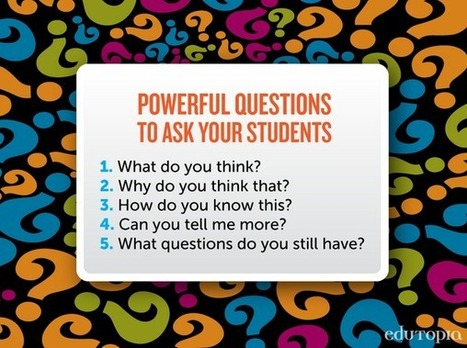 "Dr. Justin Tarte on Twitter: ""5 powerful questions to ask your students: via @edutopia #edchat #unionrxi http://t.co/qGQsOxPL9J"" 