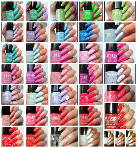 Betty Nails: missp complete swatches preview 1-37 | Betty Nails | Scoop.it