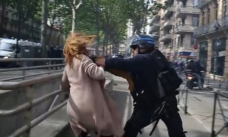 #Nuitdebout #Police officer throws #woman to ground during #France protests #austerity #EU | The uprising of the people against greed and repression | Scoop.it