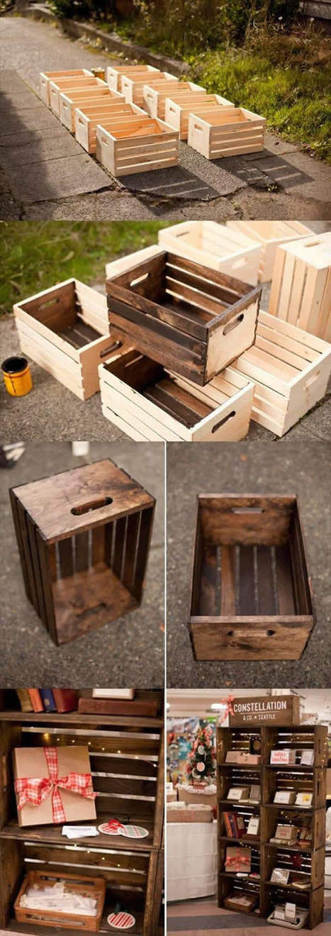26 ideas using crates | Upcycled Objects | Scoop.it