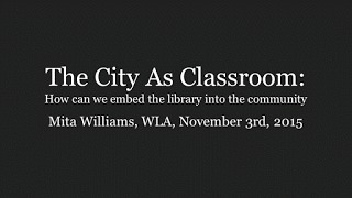 New Jack Librarian: The City As Classroom | SocialLibrary | Scoop.it