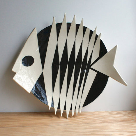 Vintage Large Pottery Fish Plate | Fish: 21st Century Design Essentials | Scoop.it