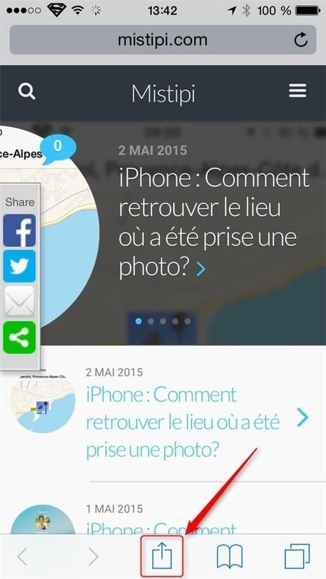 iPhone iOS : Comment ajouter un raccourci vers un site Web sur votre page d'accueil? | L'e-Space Multimédia | Scoop.it