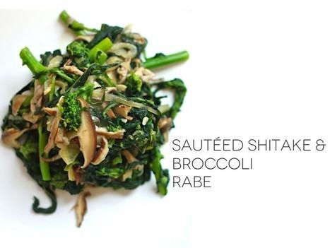 Jenessa's Dinners: sauteed shitake and broccoli rabe | Recipes | Scoop.it