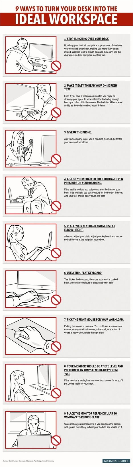 9 Ways to Turn Your Desk Into the Ideal Workspace (Infographic) | Leadership and Management | Scoop.it