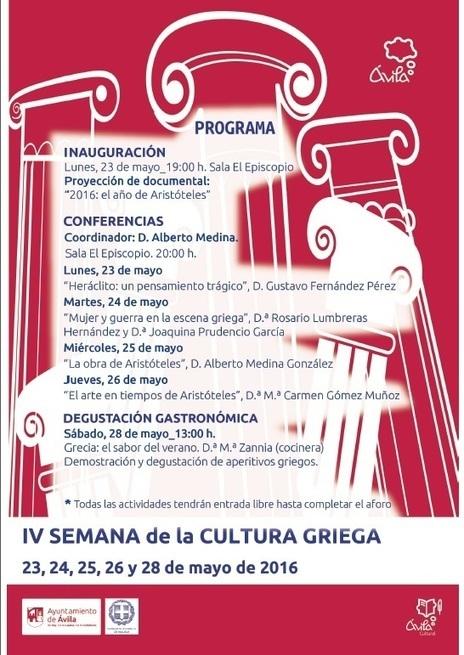 IV Semana de la Cultura Griega en Ávila | LVDVS CHIRONIS 3.0 | Scoop.it
