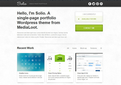 Solio: Theme para portfolio en Wordpress | Kabytes | CMS Economiza tu tiempo en la creacion de web | Scoop.it
