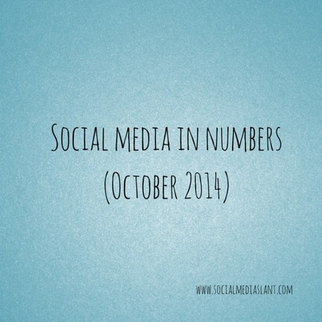 Social media in numbers (October 2014) | Communication design | Scoop.it
