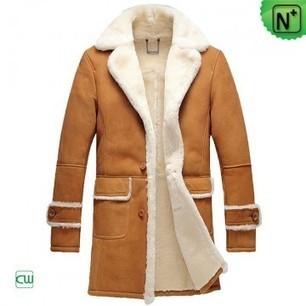 Mens Leather Shearling Coat CW878604 | Men's | Scoop.it