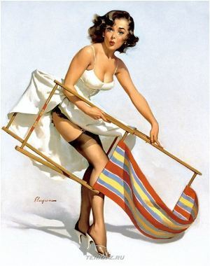 Gil Elvgren's Vintage Pin Up Girls Gallery16   Rockabilly   Scoop.it