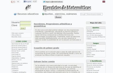 Ematematicas, ejercicios y recursos de mates para alumnos de ESO y Bachillerato.- | educación, aprender, enseñar, escuela, bachillerato, Objetos de Aprendizaje, nuevas tecnologías, e-learning, b-learning, moodle, drupal | Scoop.it