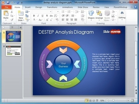 Download Free PowerPoint Templates And Business Diagrams At SlideHunter | Cylinder Diagrams | Scoop.it