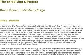 Skramstad, The Exhibiting Dilemma | Digital Museums | Scoop.it